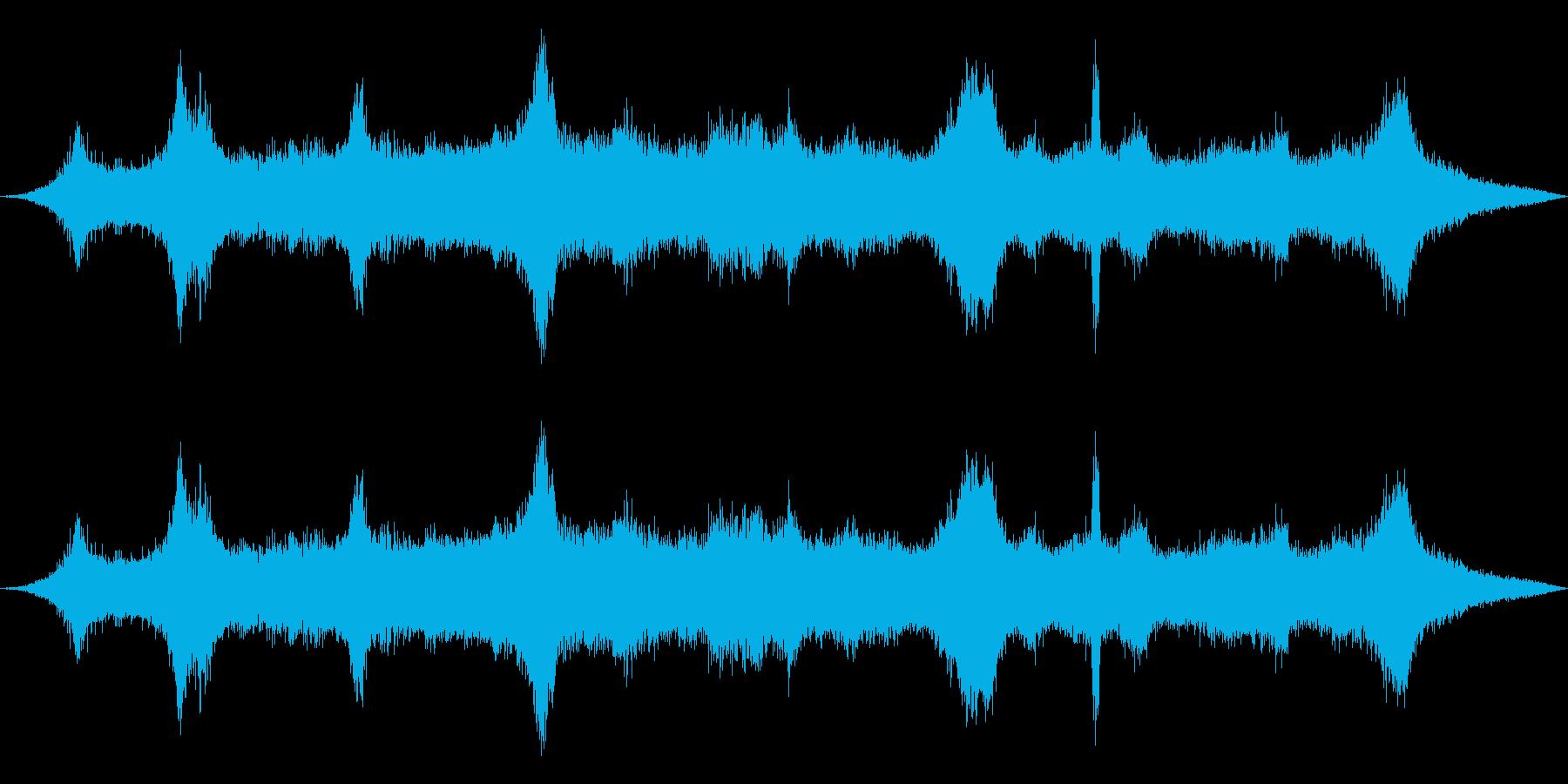 壁0-12をこする車の再生済みの波形