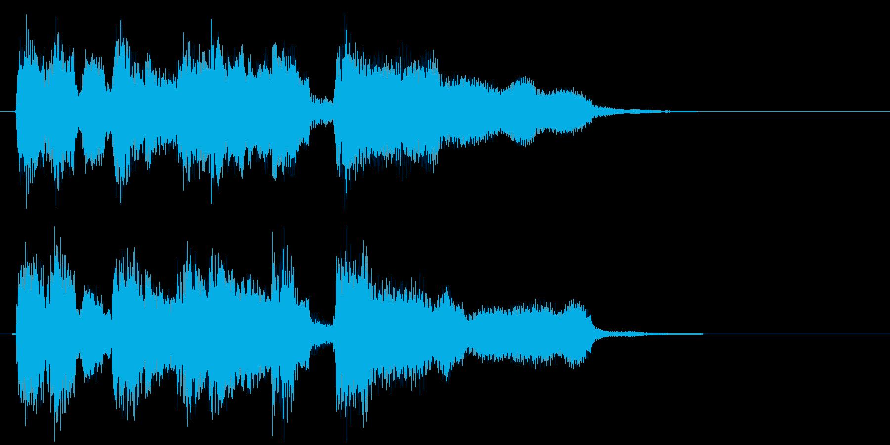 ボサノバのアイキャッチ、ランチ、カフェの再生済みの波形