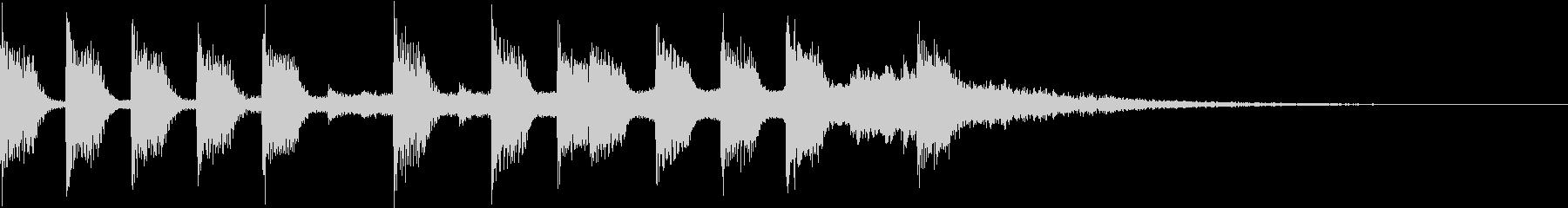 ピコピコでかわいいVtuberジングルの未再生の波形