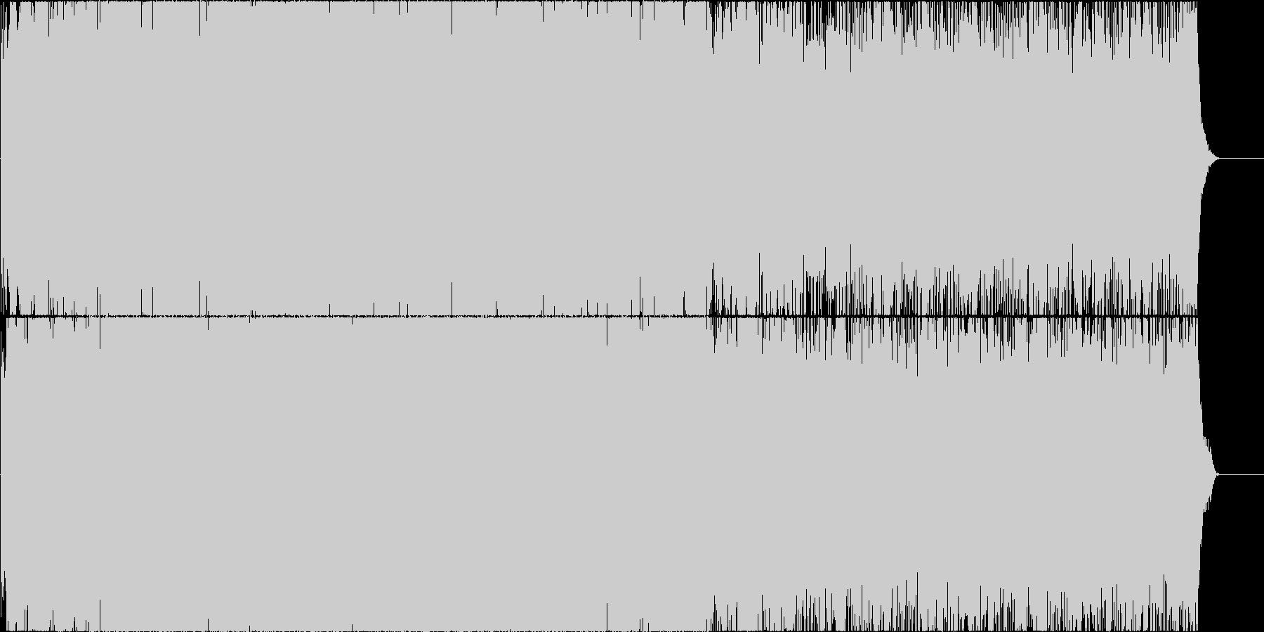 宇宙的なエレクトロ 緊迫感 サウンドロゴの未再生の波形