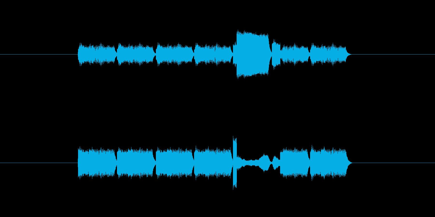 「7」を表す音のカウンターですの再生済みの波形