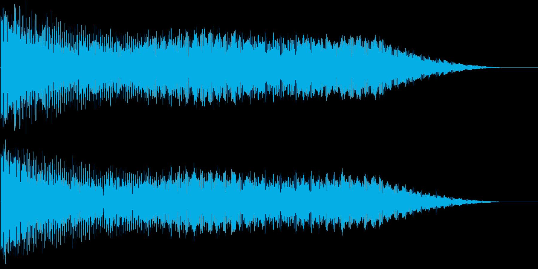 宇宙船が宇宙空間にワープしてきたイメージの再生済みの波形