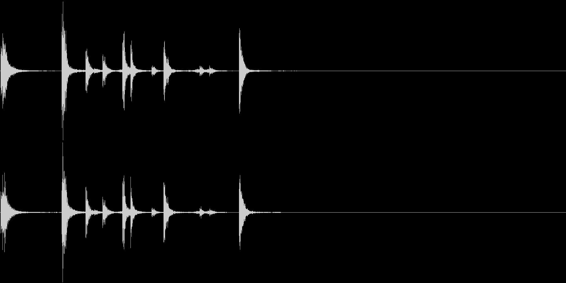 【生録音】手錠の音 カチャカチャ 1の未再生の波形