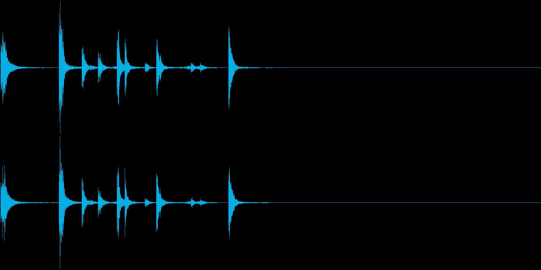 【生録音】手錠の音 カチャカチャ 1の再生済みの波形