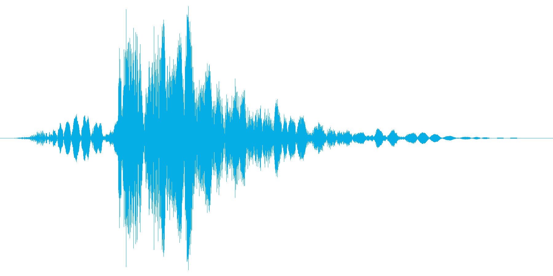 パンチ/殴るの再生済みの波形
