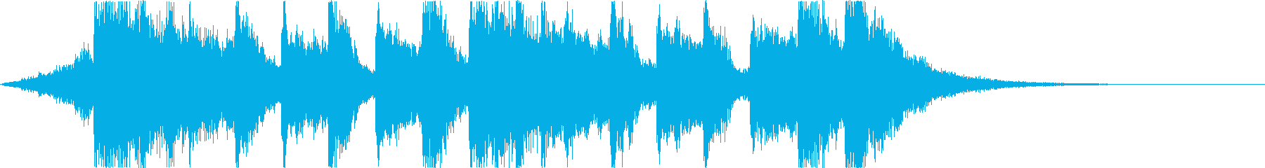 Comical and fun Halloween horror song e's reproduced waveform