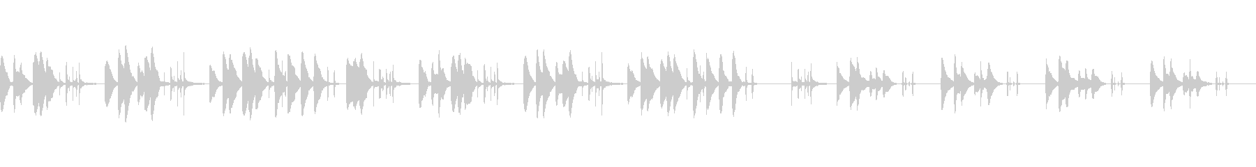 音の少ないシンプルな夜のBGMの未再生の波形