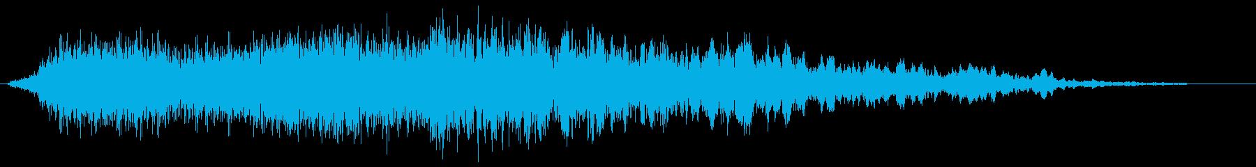 シューコーというようなエアー音の再生済みの波形