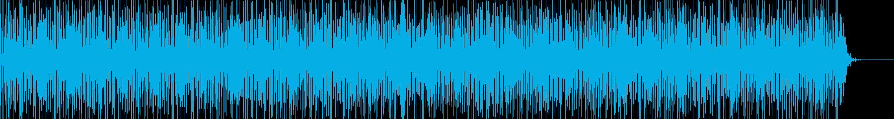 実用的シンセの無機質アンビエントBGM7の再生済みの波形