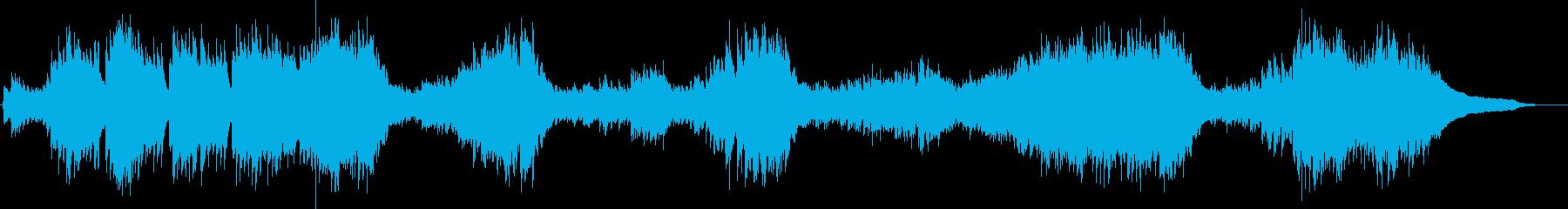 推理小説の1場面に合いそうなピアノ曲の再生済みの波形