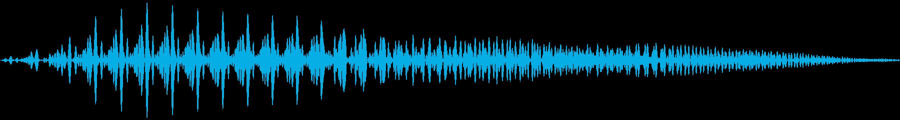 ぽよん(やわらかいもの当たった音)の再生済みの波形