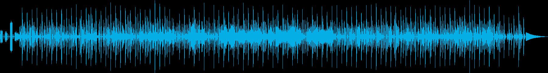 クラシックなゲームのBGM風の再生済みの波形