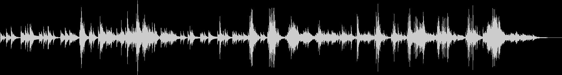 ゆったり流れる静かなくつろぎのピアノの未再生の波形
