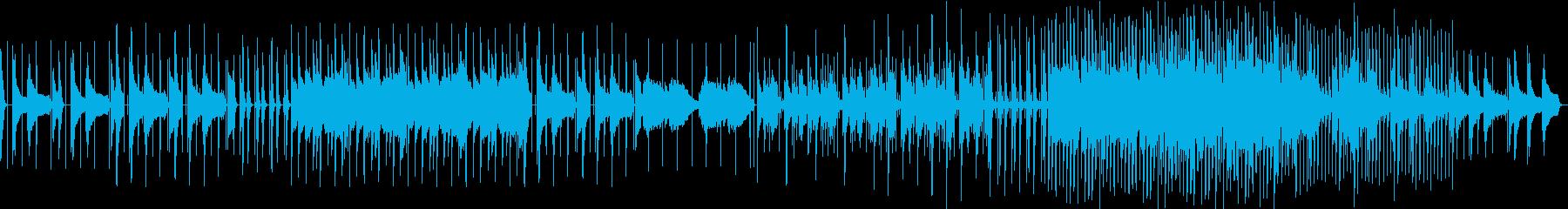 ローファイ系ピアノBGMの再生済みの波形