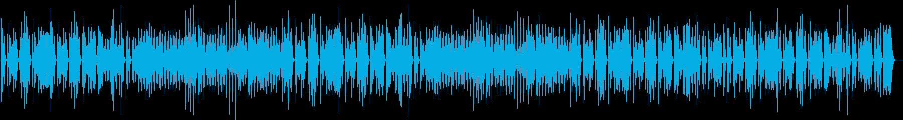 ペット動画に♪ワンパク軽快なピアノBGMの再生済みの波形