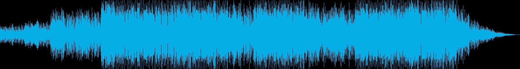メロディアスで明るい雰囲気のEDMの再生済みの波形