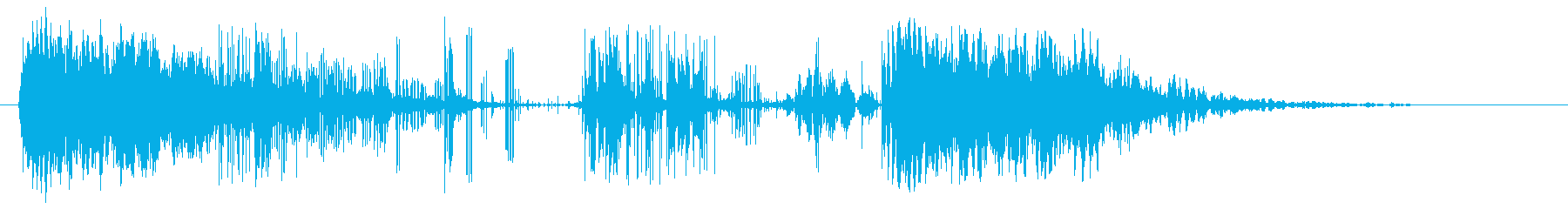 電話ポールの復VENの再生済みの波形