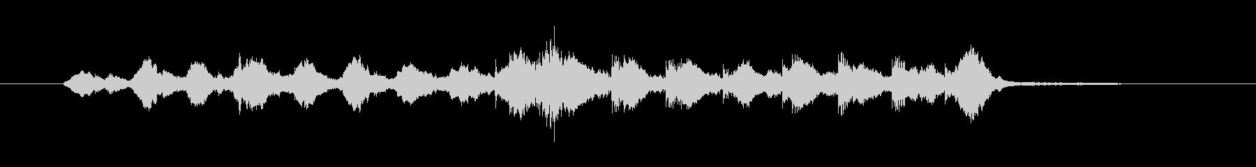 響きが力強くて独特なリズムのメロディーの未再生の波形