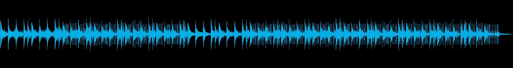 ジャズテイスト・Lo-fi・チル・雨音の再生済みの波形