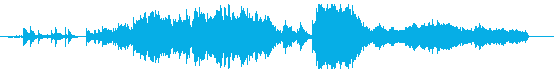 アニメ作品に流れるような感動的なBGMの再生済みの波形