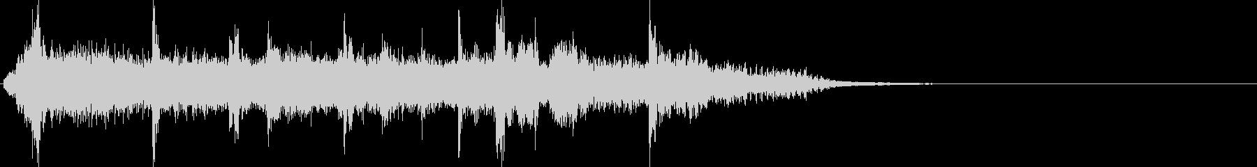 SFなどの場面転換のBGMの未再生の波形