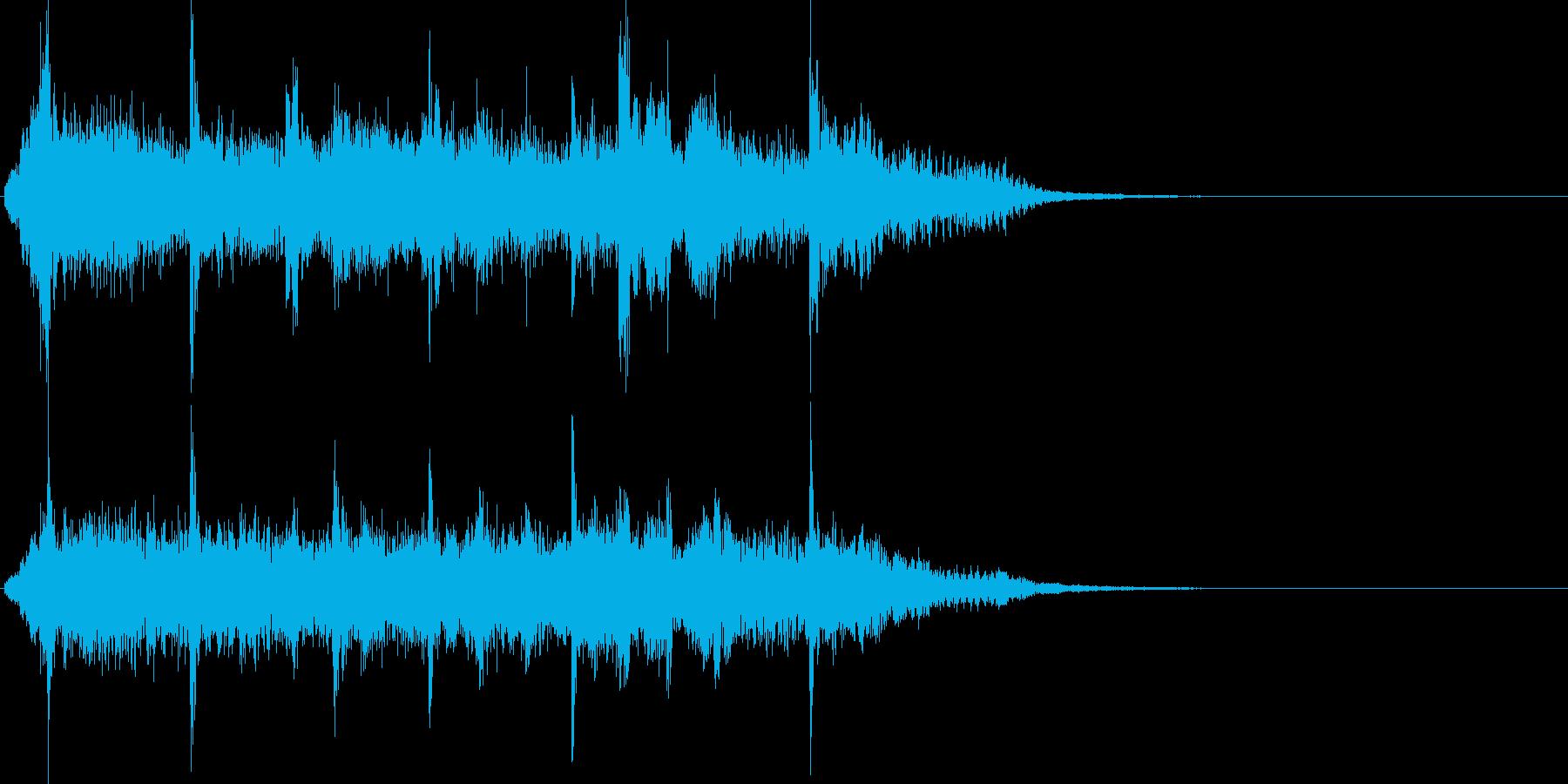 SFなどの場面転換のBGMの再生済みの波形