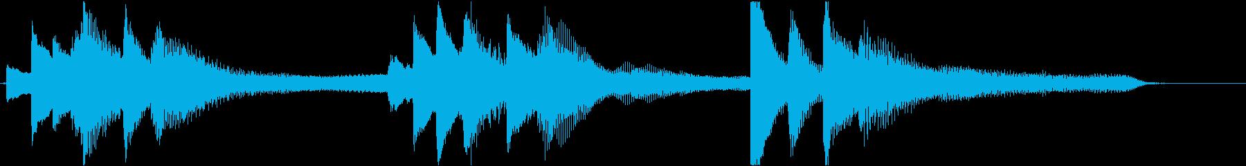 短いピアノの感動的なシーンのジングルですの再生済みの波形