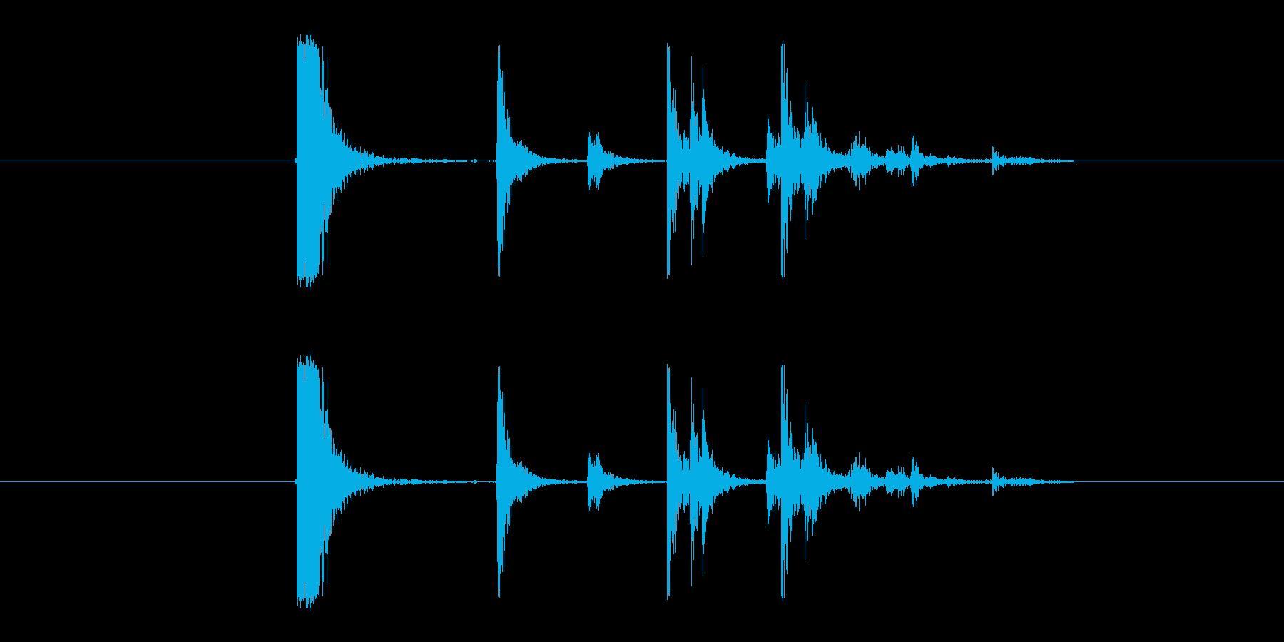 ガンッカタカタ(プラスチックを落とす音)の再生済みの波形