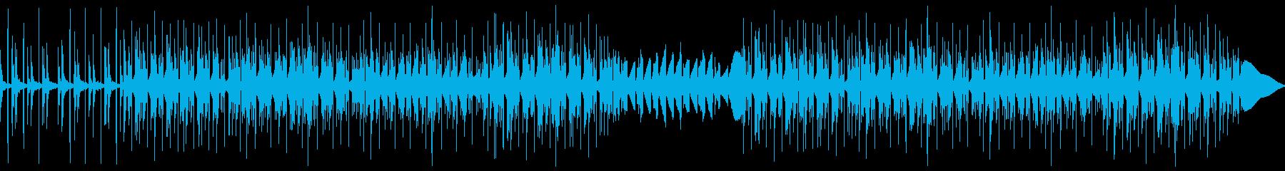 チルアウト幻想的なトラップビートBGMの再生済みの波形