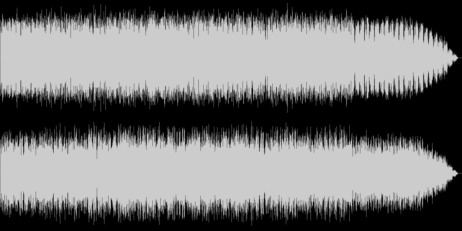 パーカッションとシンセサイザーのBGMの未再生の波形