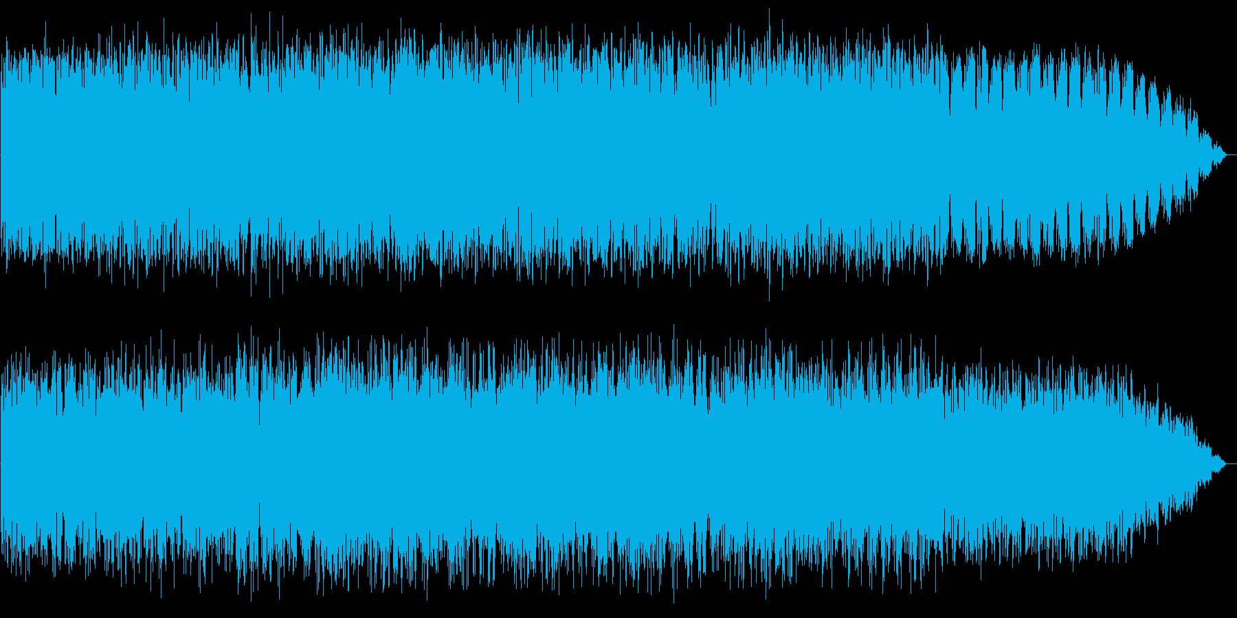 パーカッションとシンセサイザーのBGMの再生済みの波形
