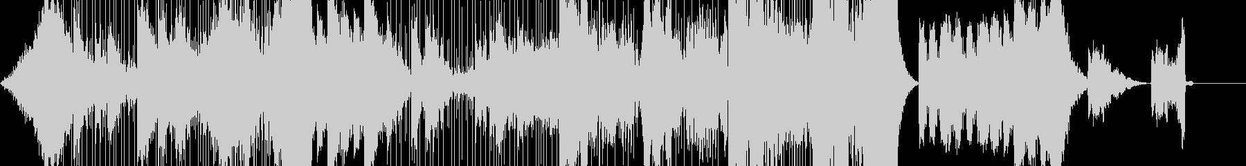緊迫した雰囲気のダークファンタジー系音楽の未再生の波形
