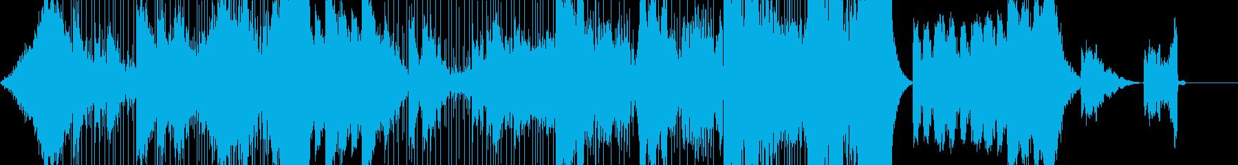 緊迫した雰囲気のダークファンタジー系音楽の再生済みの波形