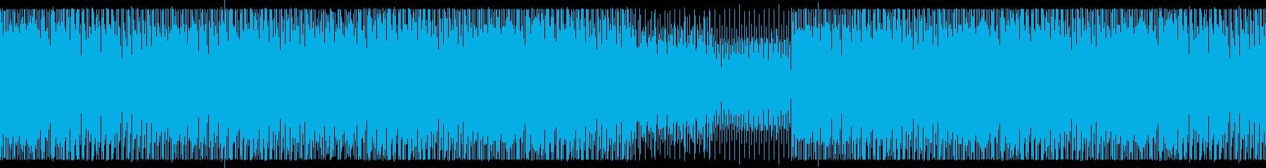 不協和音を取り入れたテクノの再生済みの波形