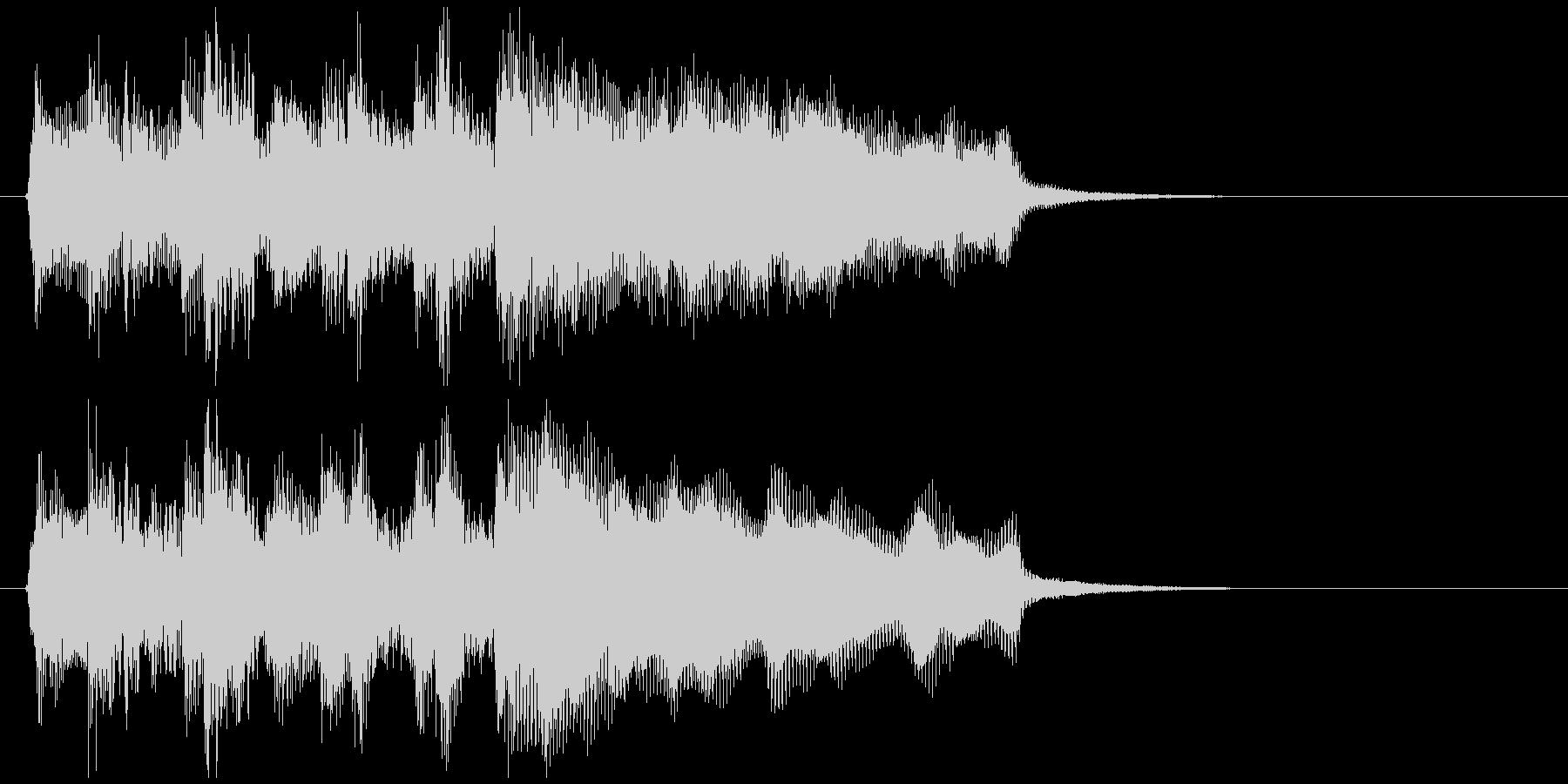 ラッパ、管楽器、ステージクリアのジングルの未再生の波形