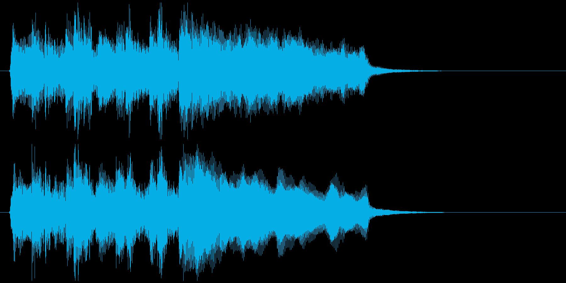 ラッパ、管楽器、ステージクリアのジングルの再生済みの波形