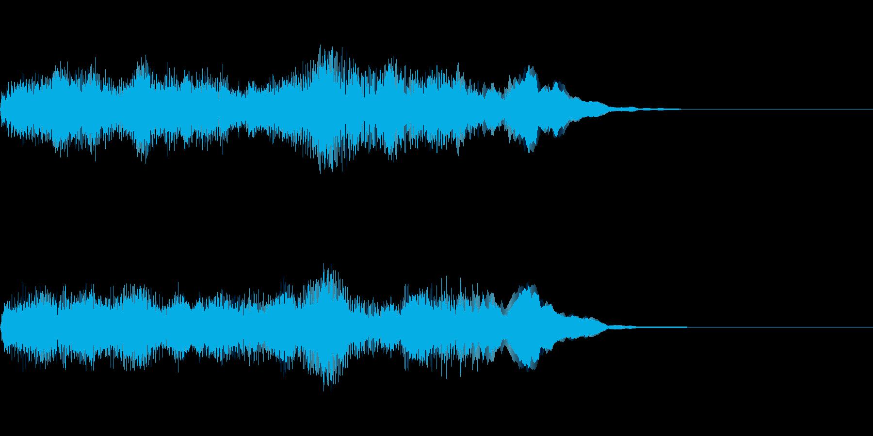未来的な前進するイメージの効果音の再生済みの波形