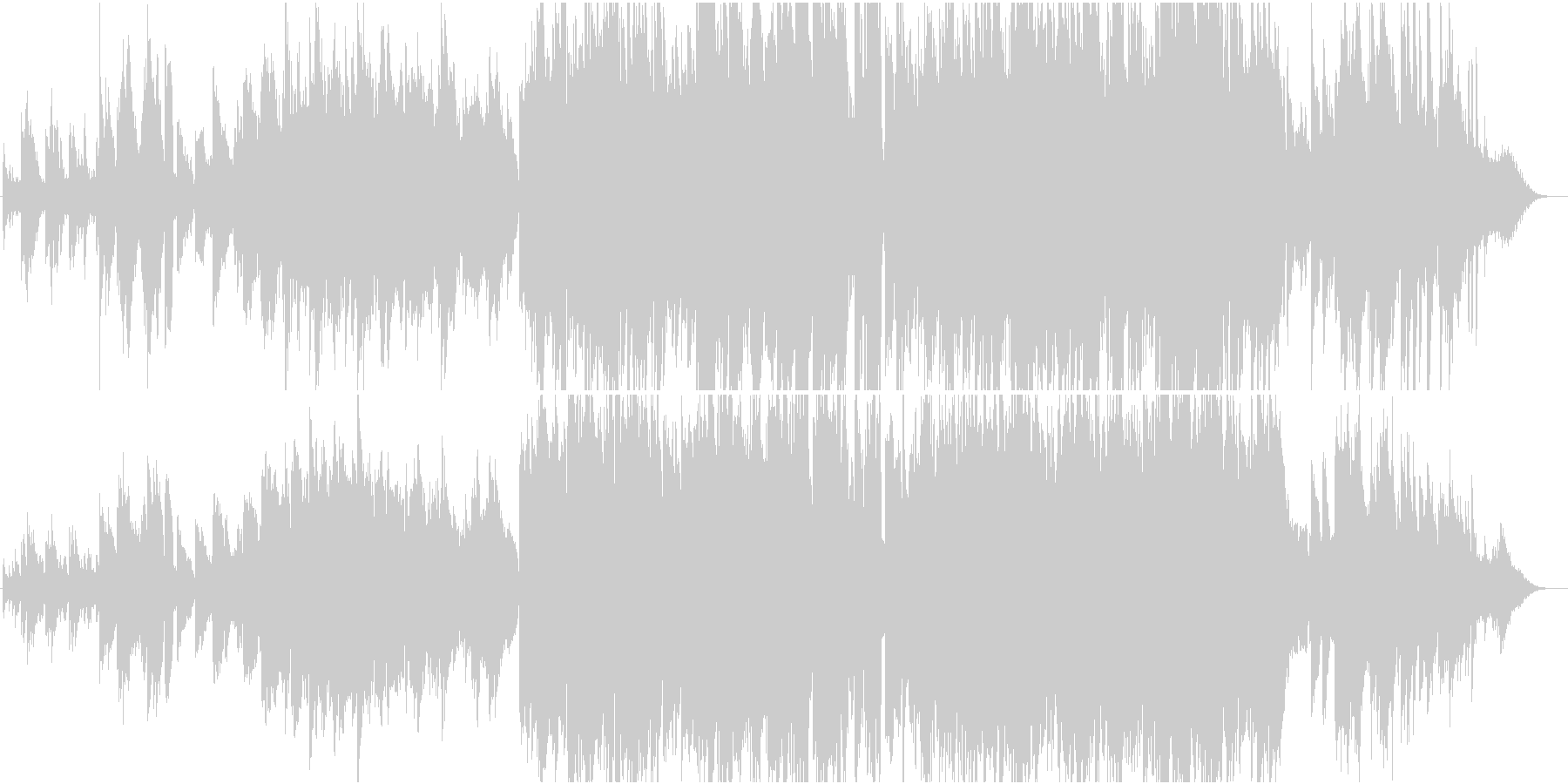 童謡「七夕様」のアレンジ。ピアノ、笛使用の未再生の波形