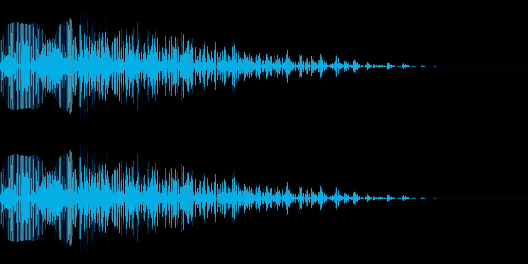 失敗して気分が落ち込むような音_02の再生済みの波形