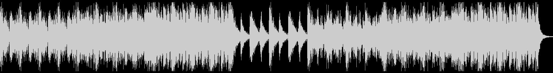 打楽器による躍動感のあるBGMの未再生の波形