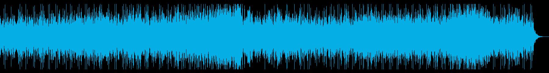 緊迫感かつゆったりめEDMの再生済みの波形