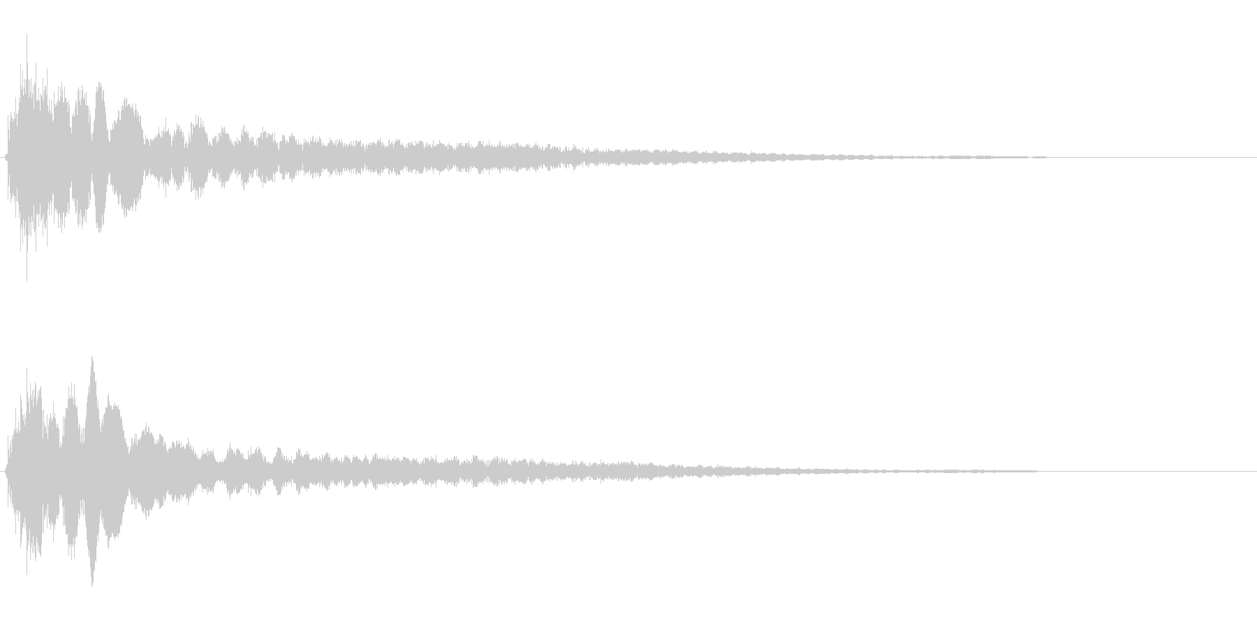 サスペンスに最適!ピアノの弦を弄ぶ音46の未再生の波形