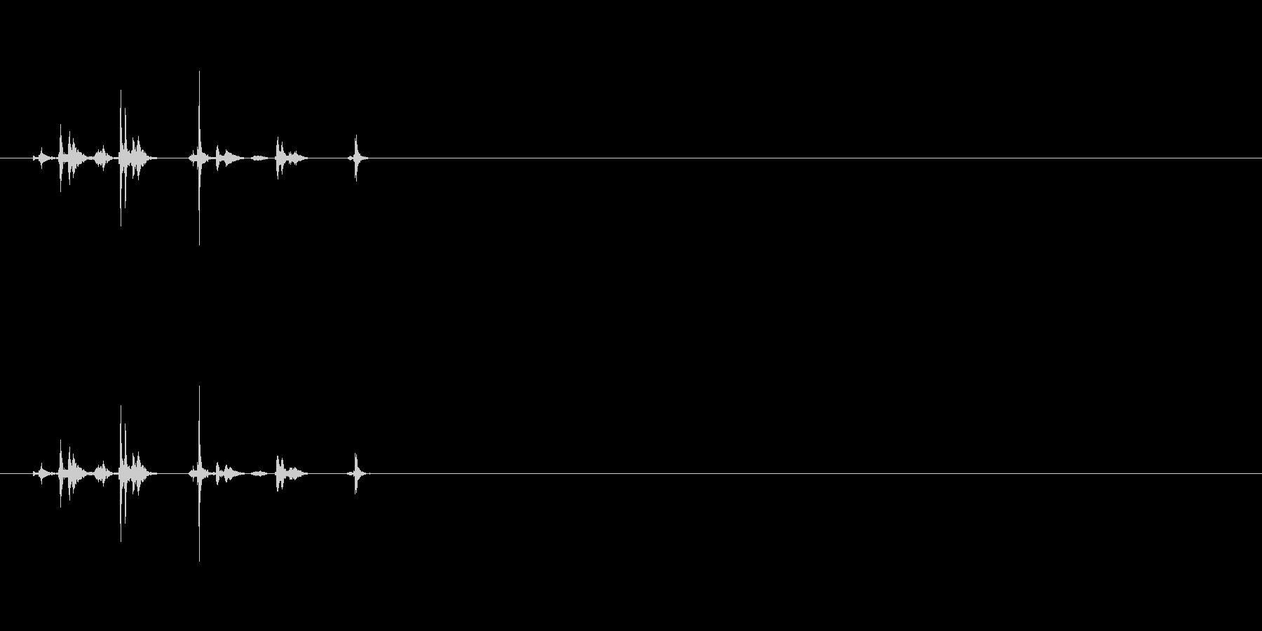シャッター音03(2連写)Var2-2の未再生の波形