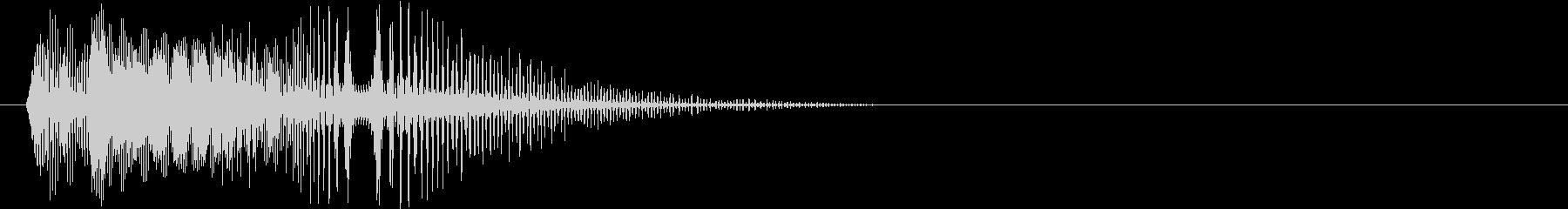 ボタンを押した時の電子音の未再生の波形