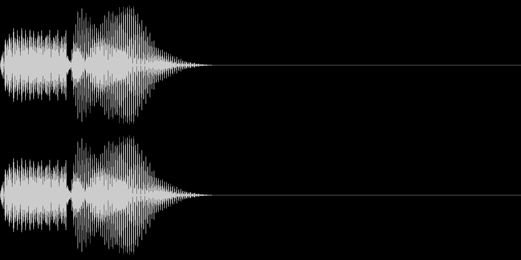 ボタン_キャンセルの未再生の波形
