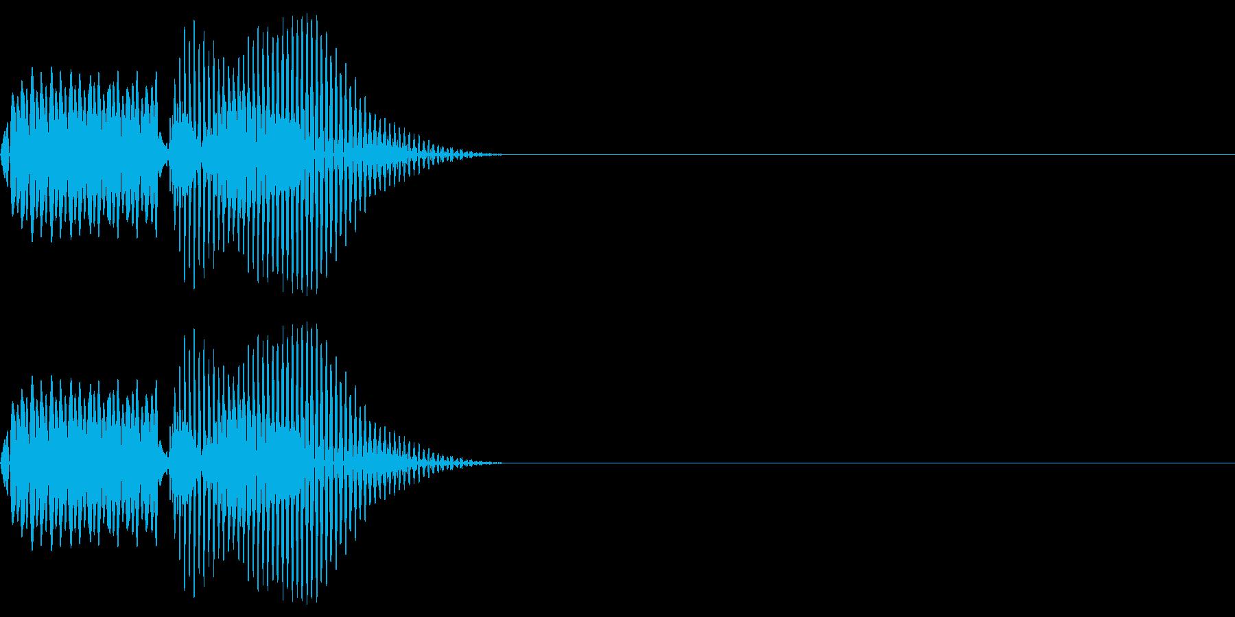 ボタン_キャンセルの再生済みの波形