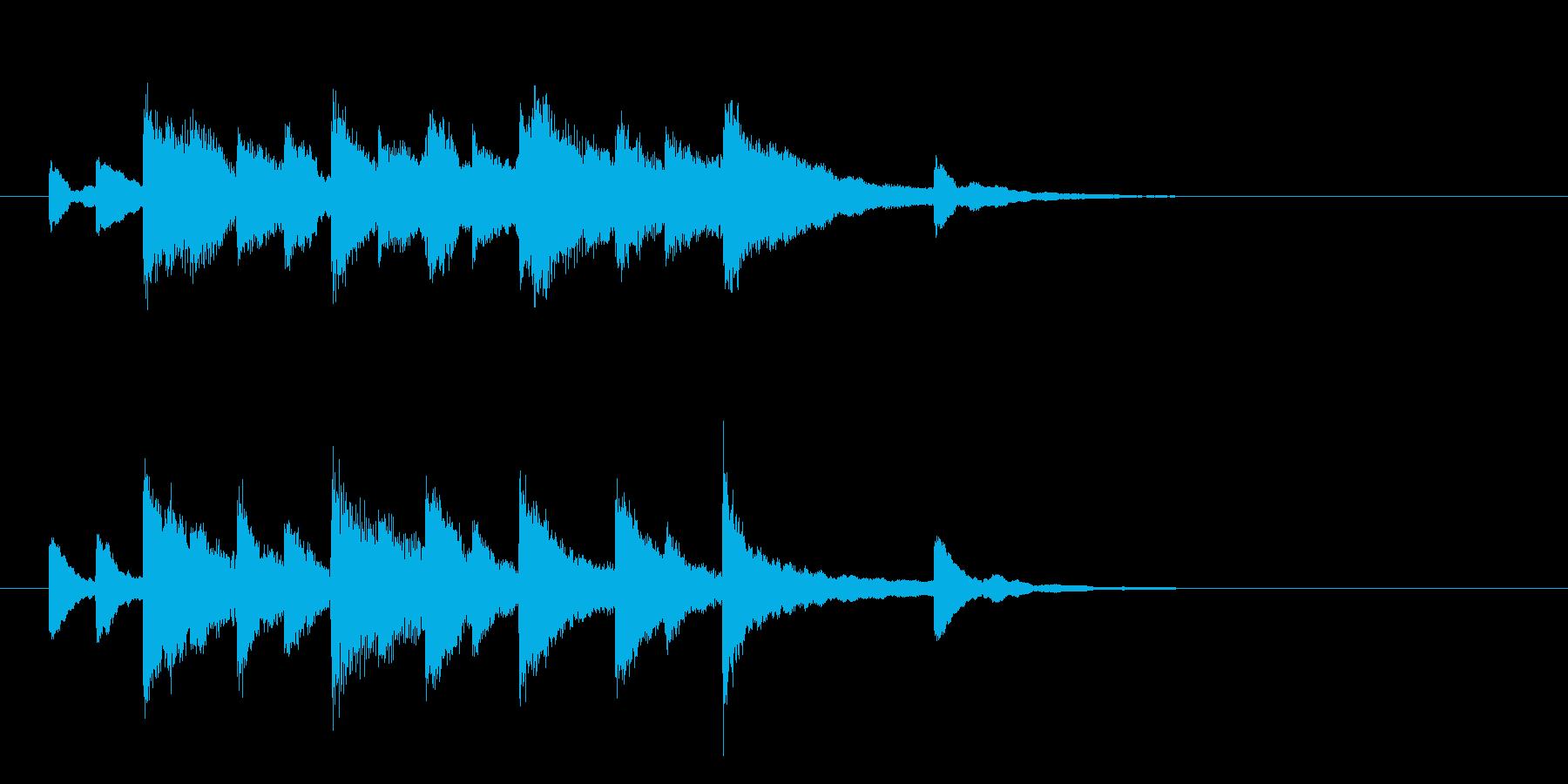 ゲームオーバーの悲しいジングルの再生済みの波形