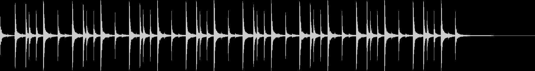 ドラム:ロックリズムの未再生の波形