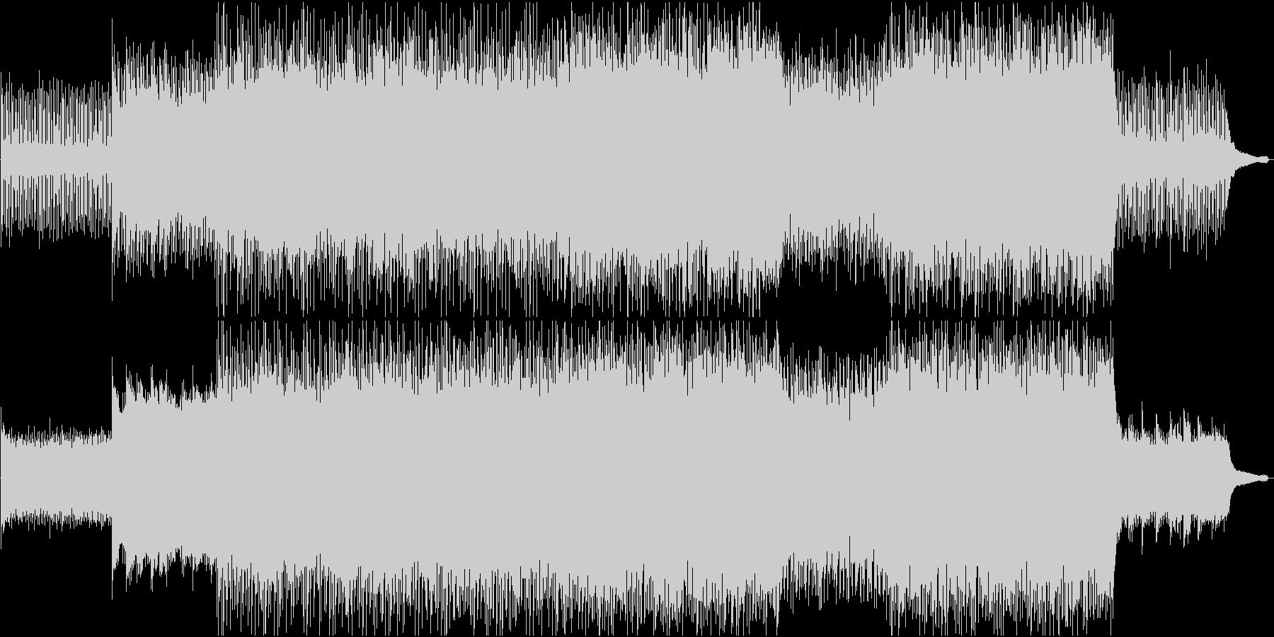 ポジティブなライトロックBGMの未再生の波形