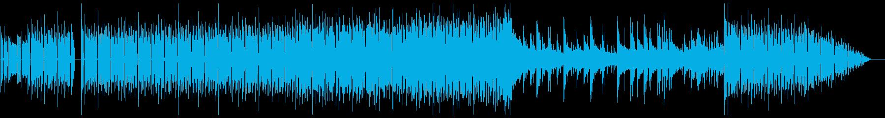 透明感のあるお洒落でクールな電子音楽の再生済みの波形